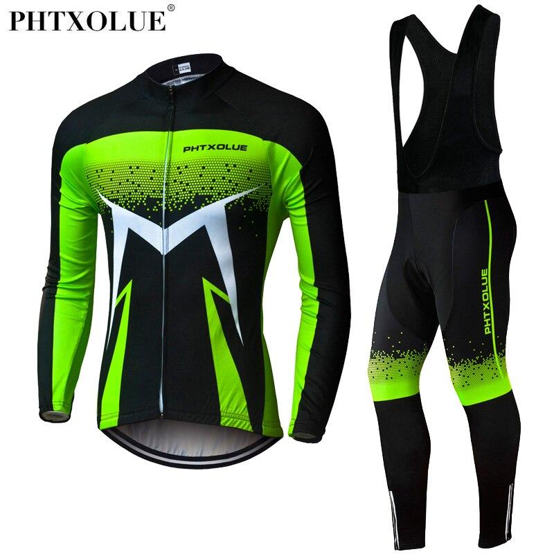 Phtxolue 2018 Traspirante A Maniche Lunghe Ciclismo Set Abbigliamento Mountain Bike Autunno Bicicletta Maglie Abbigliamento Maillot Ropa ciclismo