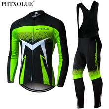 Phtxolue Atmungsaktive Langarm Radfahren Set Mountainbike Kleidung Herbst Fahrrad Trikots Kleidung Maillot Ropa Ciclismo