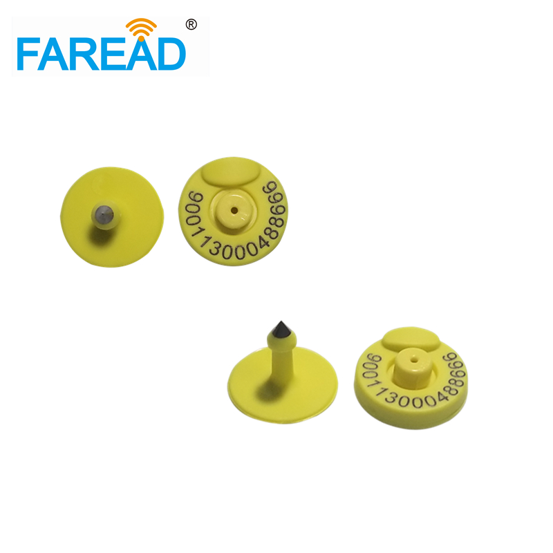 X60pcs Free ICAR Coding FDX-B RFID Round And Closed Ear Tags Animal  ID Tag Ear Mark For Pig Cattle 134.2KHz/125KHz Tramperproof