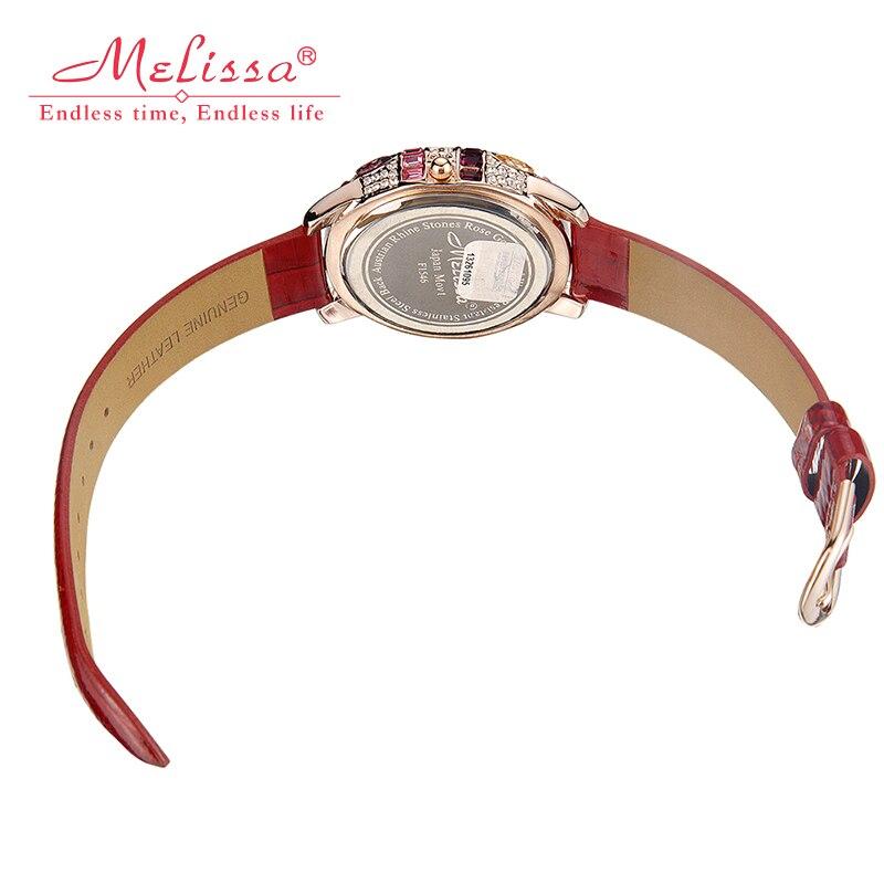 Роскошные Melissa леди женские наручные часы со стразами Кристалл Мода часов платье браслет оболочки Lucky Seven девушка подарок на день рождения - 3