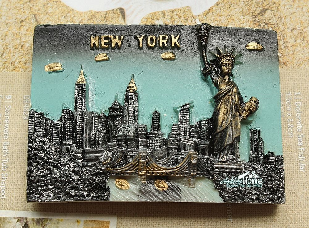 United States, New York City, Statue of Liberity 3D Resin Fridge Magnet Tourist Travel Souvenir GIFT IDEA