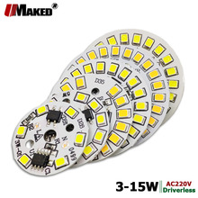 10pc Full Power AC220V LED Bulb lamp plate 3W 5W 7W 9W 12W 15W SMD2835 Aluminum PCB Supper bright For lights freeship