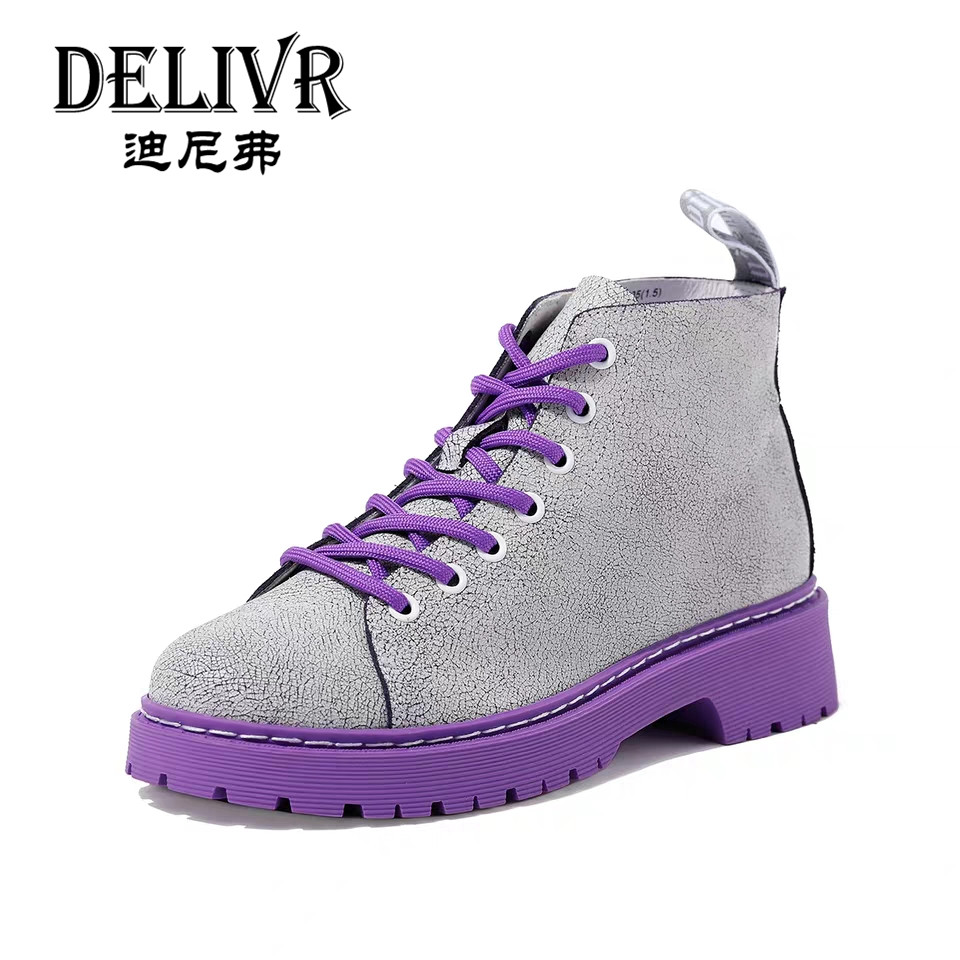 Delivr Cow Leather High Top Women Boots  Casual Increasing Martins Shoes Ladies Fashion Female Boot 2019 Summer Schoenen VrouwDelivr Cow Leather High Top Women Boots  Casual Increasing Martins Shoes Ladies Fashion Female Boot 2019 Summer Schoenen Vrouw