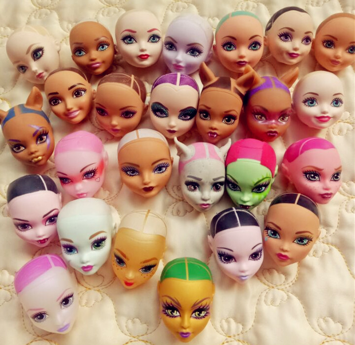 freedom to choose a lot of style The original monster doll head, brand bald diy toy for gift пила цепная elitech эп 2200 16