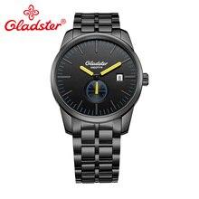 Gladster сапфировое стекло Uomo светящиеся Мужские кварцевые наручные часы Япония MIYOTA GP11 из нержавеющей стали мужские часы