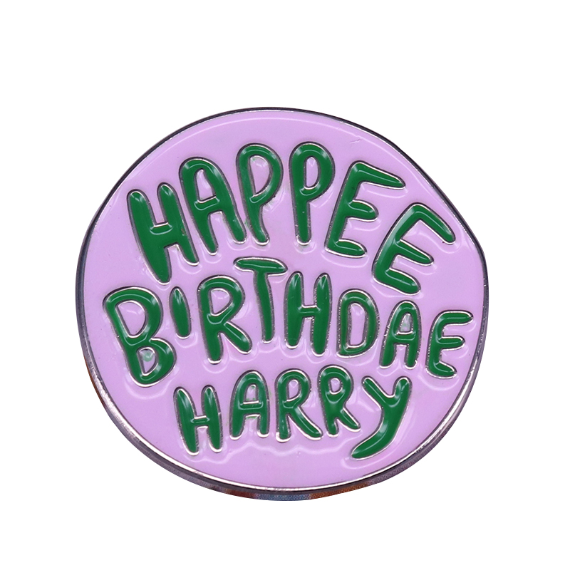 Happy birthday lapel pin Hagrid cake brooch witch wizard themed badge great addition(China)