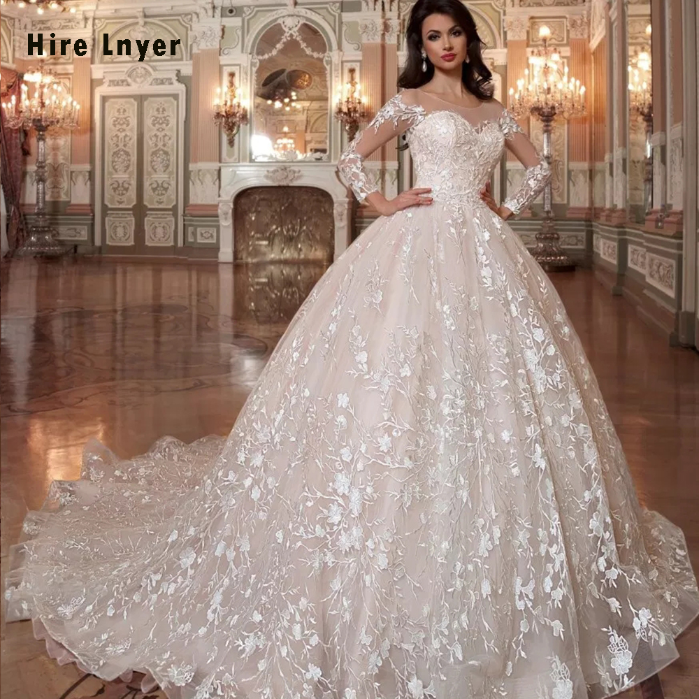 Robe De Mariee Princesse De Luxe 2019 Shiny Beading Crystal Waist Luxury Lace Ball Gown Wedding ...