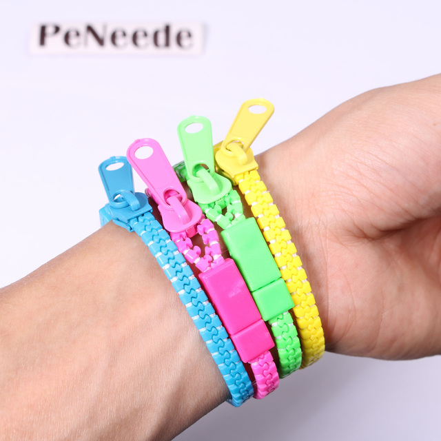 10pcs Set Zipper Bracelet Fidget Products Toy Kids Children Hand Sensory Toys Stress Relief