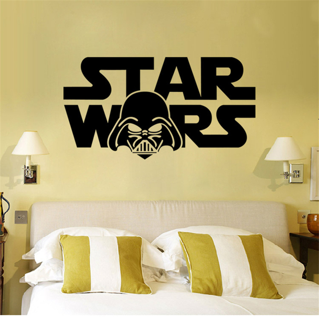 star wars letters home decoration wall stickers for bedroom diy removable decals vinyl art kid's gift