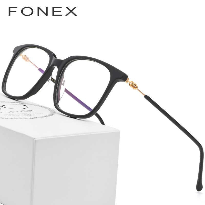 befe8c60d2 Acetate Glasses Frame Men Women Prescription Eyeglasses Spectacles Big  Oversize Square Myopia Optical Frames Screwless Eyewear