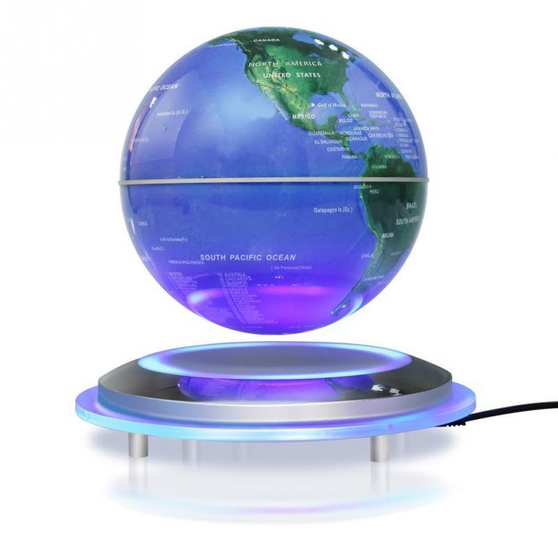 MIRUI lévitation magnétique Globe flottant 6 boule auto-rotative Anti gravité LED carte du monde terre pour enseigner la décoration des ressources