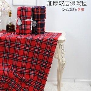 Image 4 - Plaid rouge quadrillé écossais 2 couches