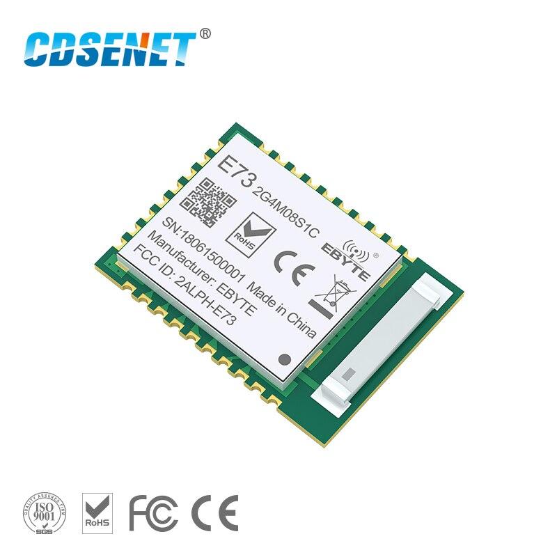 NRF52840 Bluetooth 5,0 de 240 MHz RF transceptor CDSENET E73-2G4M08S1C 8dbm antena cerámica BLE 4,2 de 2,4 GHz transmisor y receptor