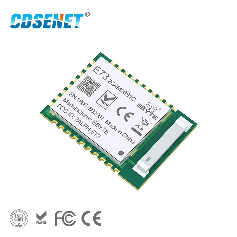 nRF52840 Bluetooth 5.0 240MHz RF Transceiver CDSENET E73-2G4M08S1C 8dbm Ceramic Antenna BLE 4.2 <font><b>2.4</b></font> <font><b>GHz</b></font> <font><b>Transmitter</b></font> and Receiver image