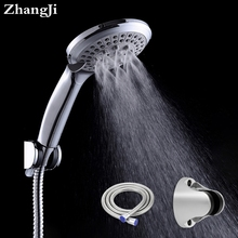 Round rain shower head sets wall mounted bathroom shower pipe+shower holder adjustable+functional handhold shower heads ZJ009