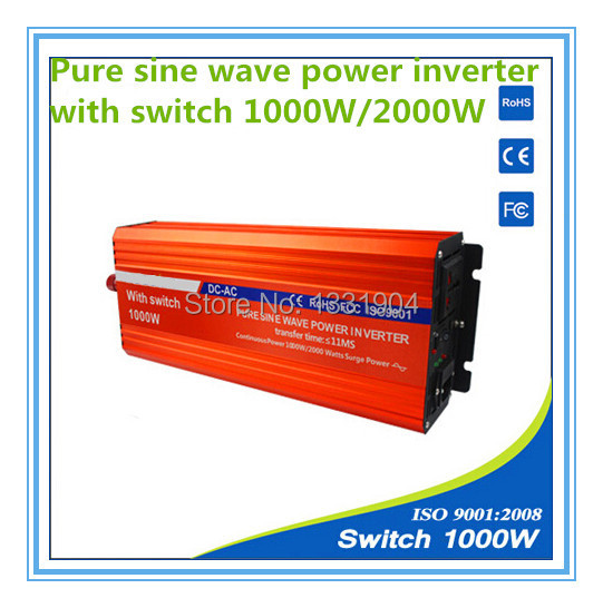 цена на 1000W pure sine wave inverter DC24V to AC220V inverter,solar power inverter with auto transfer switch,car inverter