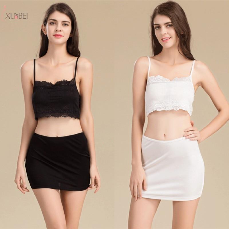 White Black Short Petticoat Underskirt Woman Half Slips Underdress Under Dress Underwear Wedding Accessories