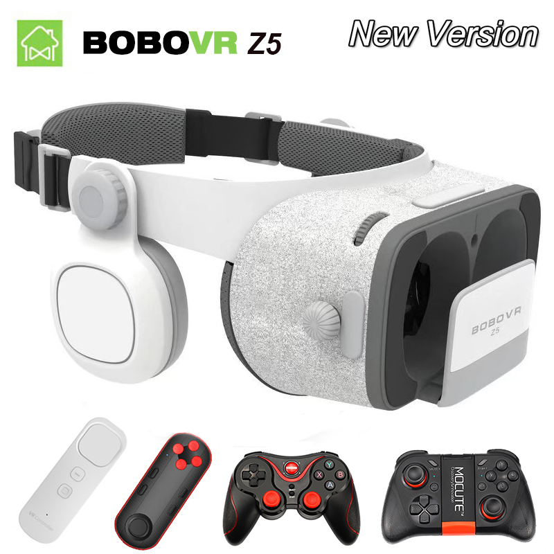 VR BOX BOBOVR Z5 VR Glasses Virtual Reality goggles 3D glasses google Cardboard 2.0 bobo vr headset For 4.0 - 6.0 smartphone 3d очки eshine vr glasses vr oculus vr 3d bluetooth gamepad google 3d vr google cardboard