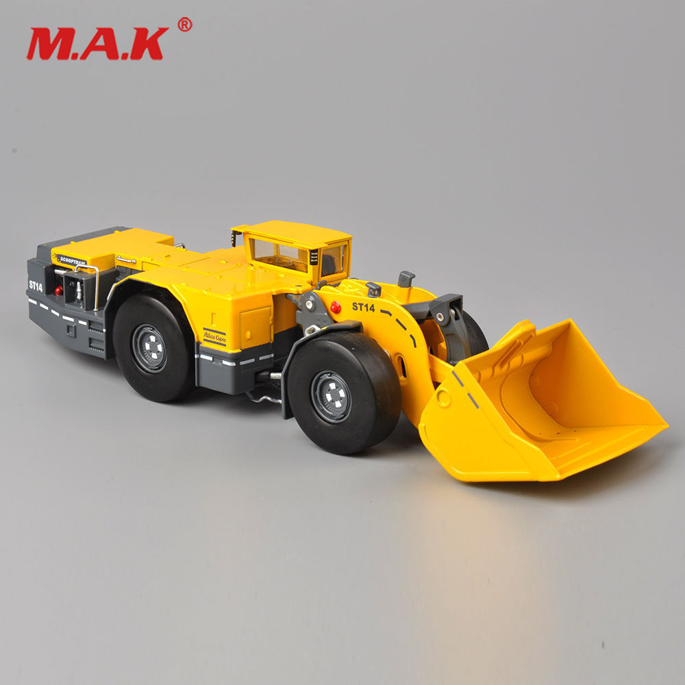 For Collection 1:50 Scooptram ST14 Type Underground Loader Diecast Shop Truck Pushdozer Construction Vehicle Model  For Fan Gift