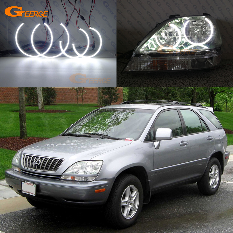 For Lexus RX300 RX 300 1999 2000 2001 2002 2003 headlight Excellent quality Ultra bright smd led Angel Eyes kit halo rings