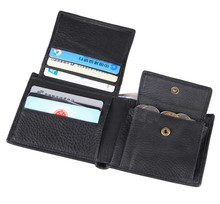 Quality Guaranteed Real Genuine Leather Men Wallets Male purse with coin pocket black coffee short wallet card holders #MD-J8063