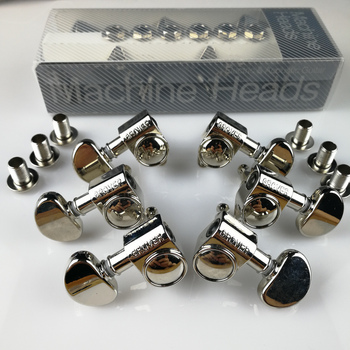 1Set 3R-3L Genuine Grover Electric Guitar Machine Heads Tuners Nickel Tuning Pegs ( with package ) image