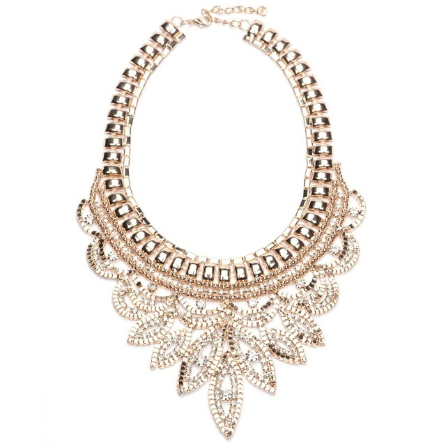 a64833facf26 Collares Gros Collier Femme 2016 Necklace Pendant Crystal Gold Chain Flower  Accesorios Bisuteria Mujer Bijoux Collane Choker