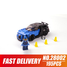 Building blocks Bugatti Chiron 28002 195pcs Compatible with lego city 75878 Bricks figures Educational toys for children(China)