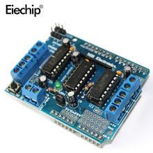 10pcs/lot L293D Motor Drive Shield dual for arduino Duemilanove, Motor drive expansion board(China)
