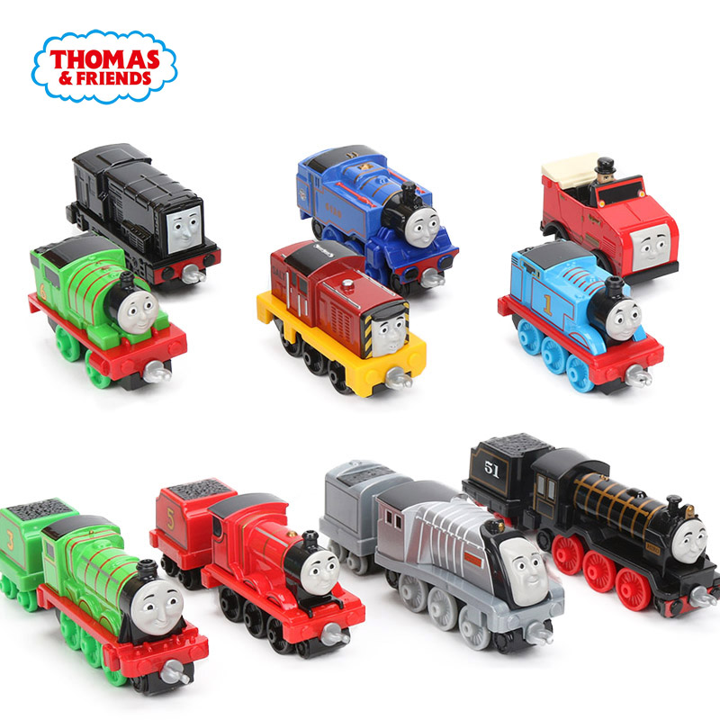 10pcs/box Thomas & Friends Engine Friends Collectible Railway Wooden Train Toys James Gordon Spencer Annie Clarabel Engine Model