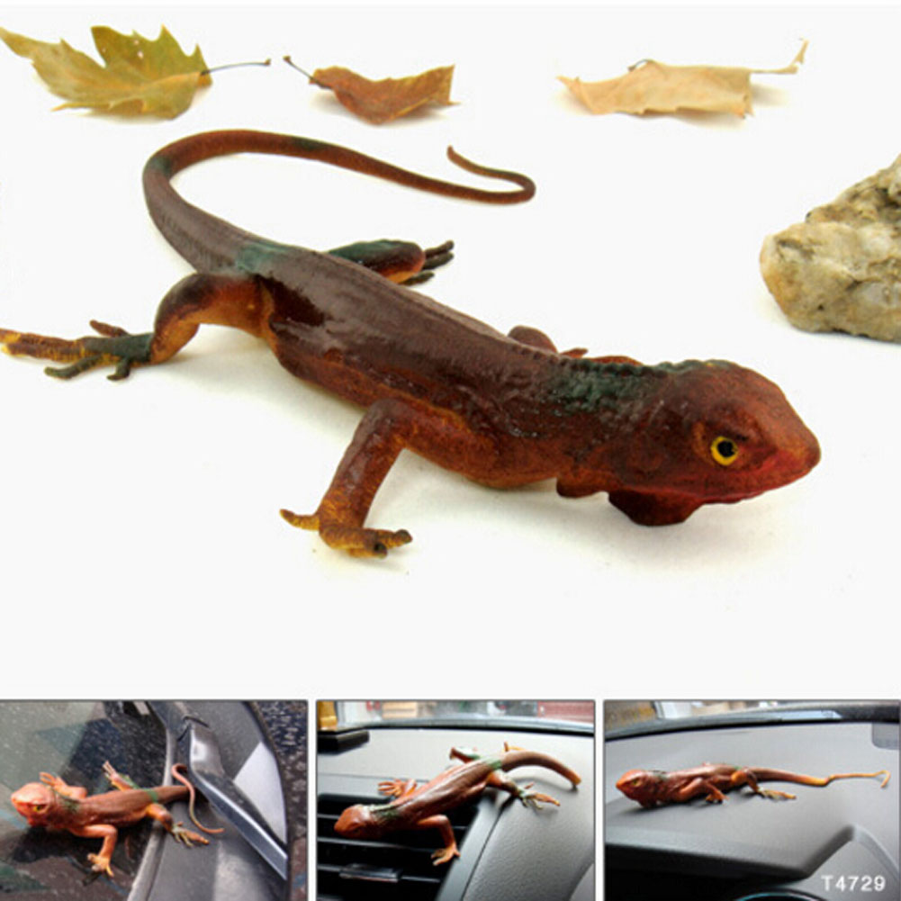 34cm Trick toy Practical Jokes Toys Simulation Lizards Fool Day Prank Toys Mischievous Small Animals Rubber LizardsColor