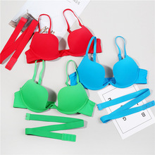 цена на Deep U Low Cut backless bra Women Lingerie Invisible Convertible casual Bra Sexy Plunge open Cup Push Up Bra Invisible Back  bra
