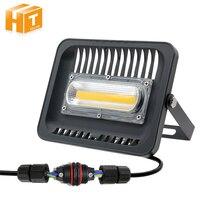 Đèn Pha LED 30 Wát 50 Wát 100 Wát 220 V IP65 Trắng Ấm/Trắng Ngoài Trời Lũ chiếu sáng Vườn Với 3pin Nối Chống Thấm Nước