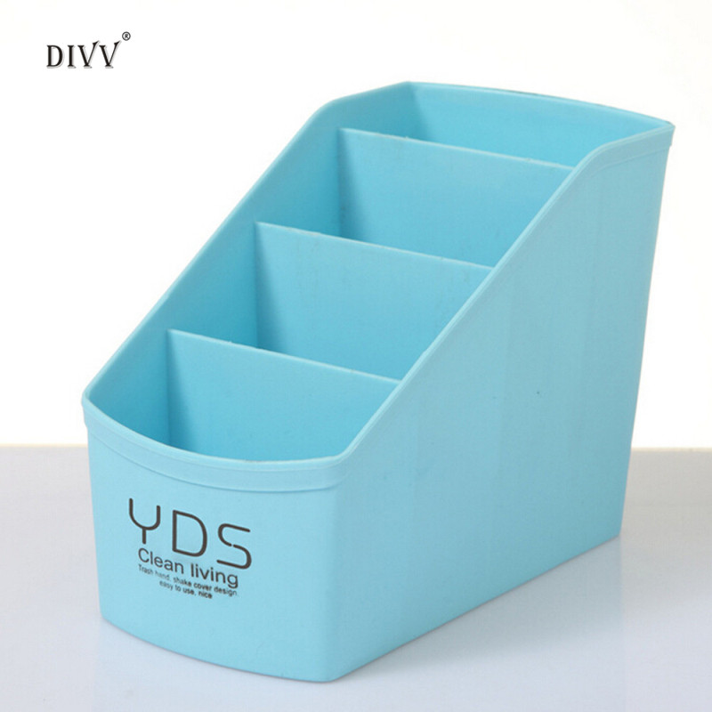 DIVV Solid Containing Desktop Box Makeup Cosmetics Jewelry Sorting Box Organizer Socks Stationery Tableware Storage 1PC