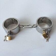 Секс товары наручники из нержавеющей стали для секса БДСМ бондаж удерживающие взрослые секс игры для пар наручники с замком