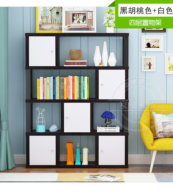 Bookcases Living Room Furniture Home Furniture steel wood bookshelf ...