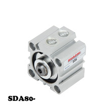 Free shipping  SDA Pneumatic Air Cylinder 80mm Bore 5/10/15/20/25/30/35/40/45/50/60/70/75/80/90/100/150mm Stroke aluminum alloy 80mm bore 5 10 15 20 25 30 35 40 45 50 60 70 75 80 90 100 150mm stroke double action sda pneumatic air cylinder
