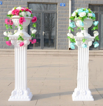 4pcs/lot plastic Roman column Fashion Wedding Props Decorative Roman Columns White Color Plastic Pillars Road Cited Party Event