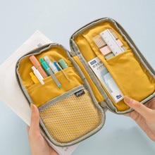 Simple Handbook Pencil Bag Large Capacity Stationery Box University Student Zipper