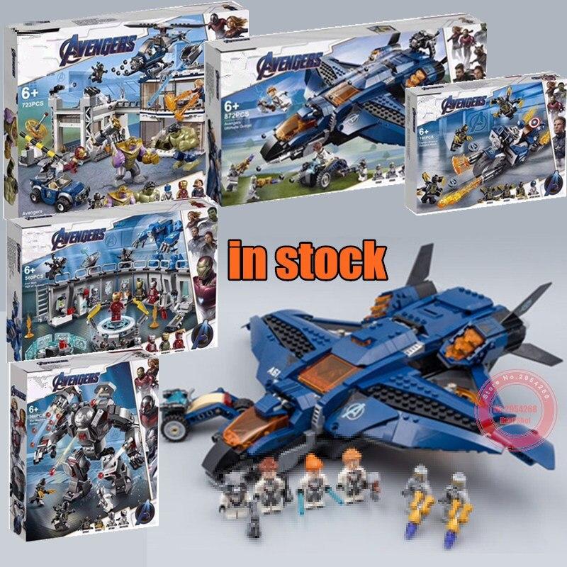 New Superheroes Avengers 4 fit legoings marvel avengers endgame figures Building Blocks bricks Toy 76123 76124 76125 76126