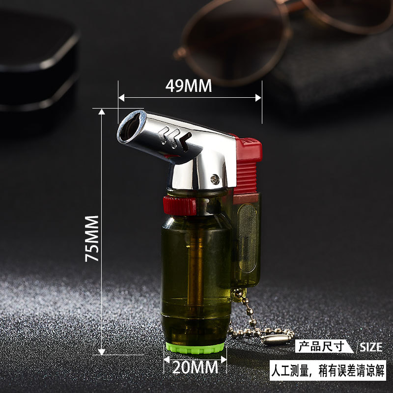 Image 2 - Elbow Portable Torch Lighter Turbo Jet Butane Pipe Cigar Lighter Spray Gun Gas 1300 C Windproof For Outdoor No Gas-in Matches from Home & Garden