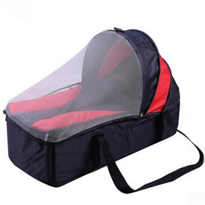 Portable Baby Carrier Basket With Netting 82 32 42CM Crib Bed for Kid 0  12Months Multifunction Baby Folding Bed Safety Sleeper-in Baby Cribs from  Mother ...