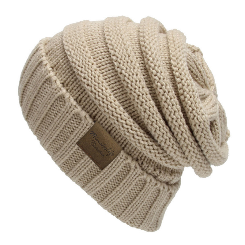 2016 Rushed Special Offer Solid Adult Gorro Trendy Warm Oversized Chunky Soft Cable Knit Slouchy Beanie Skully Hat Unisex