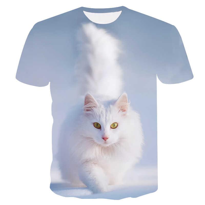 7625b263c9b45 ... 3d печатных милые котята Футболка с принтом женская повседневная весело футболки  женские футболки стильные Tumblr Прямая ...