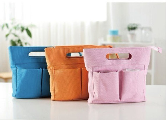 Free shipping Wholesale MP3 Phone Storage Organizer Bag Purse Hop Bag Handbag Insert, Cosmetic Bag, 1pcs