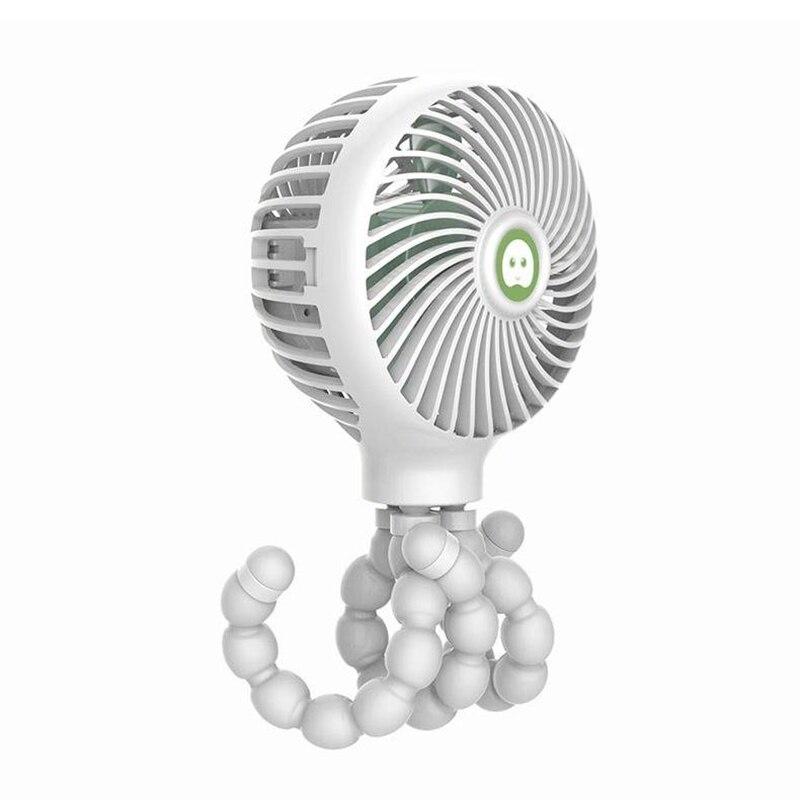 Aktiv Windable Handheld Fan Mit Akku 3 Speed Mini Usb Fan Stumm Für Kind Student Schlafsaal Baby Kinderwagen Weiß
