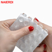 NAIERDI Door Stops Self adhesive Silicone Pads Cabinet Bumpers Catches Rubber Damper Buffer Cushion Furniture Hardware(China)