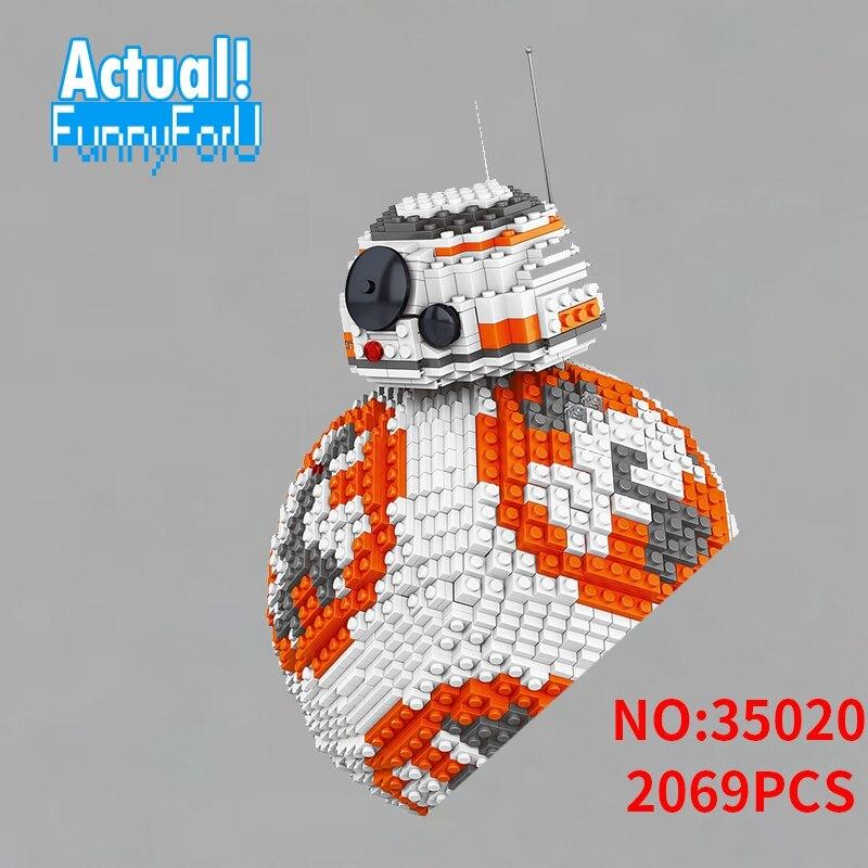NEW UCS LELE 35020 2069PCS Poe Dameron Astromech droid BB-8 Robot Model Building Block Gifts Bricks Kids Toys недорго, оригинальная цена