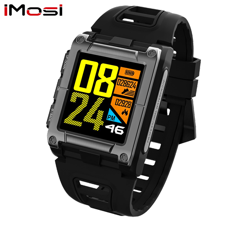 Imosi S929 GPS Sport IP68 Waterproof Swimming Smart Watch Heart Rate Monitor Thermometer Altimeter Color Screen Smartwatch