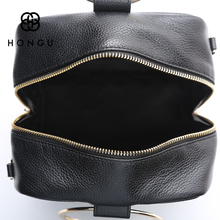 HONGU Luxury Cow Leather Handbags Women Bags Brands Ring Evening Purses Lady Mini Crossbody Shoulder Bags Female Messenger Totes